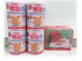 金選明治成長1-3歲新包裝850gx4罐 贈明治樂活餐盒組
