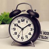 鬧鐘 簡約金屬鬧鐘可愛創意靜音夜燈4寸時尚數字學生床頭鬧鐘懶人大聲 歐萊爾藝術館