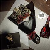 【悅閣】ins玫瑰干花創意花束暗黑系拍照道具畢業表白生日禮物wy