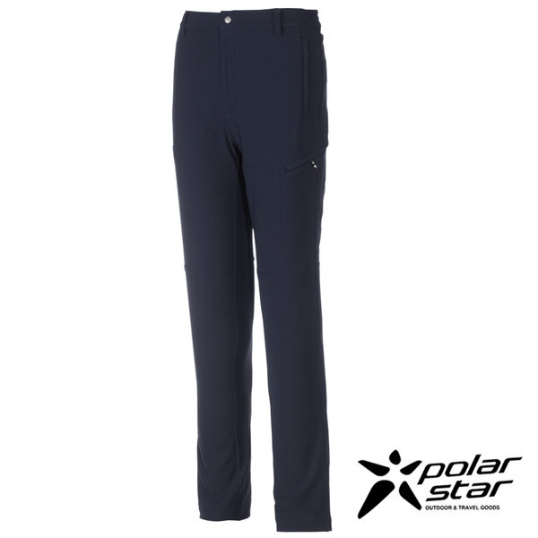Polarstar 男 防潑保暖多口袋長褲『灰藍』防潑水│刷絨│透氣│保暖 P16421