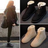 雪靴新款冬季雪地靴女短筒學生短靴韓版百搭加絨保暖棉鞋馬丁靴女