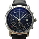 MONTBLANC 萬寶龍商務型GMT二地時區計時腕錶專櫃原廠公司貨MP102135計時腕錶41.5mm 出清價