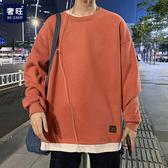 圓領衛衣男秋季vetiver寬鬆大碼外套ins原宿風情侶裝韓版胖子上衣