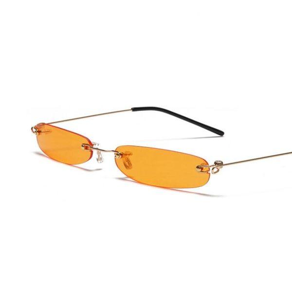 歐美個性迷你無框太陽鏡 海洋片墨鏡 太陽眼鏡【五巷六號】y41