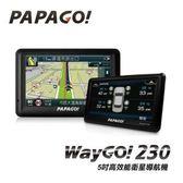 【綠蔭-免運】PAPAGO WayGo 230 五吋高效能衛星導航機