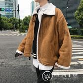 文藝男女店冬季男士麂皮絨棉衣韓版羊羔毛棉襖保暖冬裝潮流外套男
