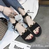 涼鞋年夏季網紅厚底時裝涼鞋仙女風學生ins潮百搭平底羅馬鞋 【快速出貨】