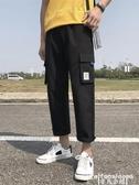 熱銷工裝褲男生九分休閒工裝褲潮牌9分褲子男夏季薄款寬鬆直筒韓版潮流百搭