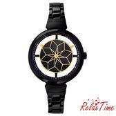 【時光鐘錶】Relax Time (RT-63-9)鏤空 女錶 黑X金/36mm
