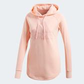 Adidas Sport ID Hoodie [CY0690] 女 套頭 連帽 長袖 上衣 舒適 棉質 愛迪達 粉橘