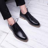 皮鞋男韓版皮質青少年配西裝商務休閒鞋耐磨牛筋底潮流發型師皮鞋