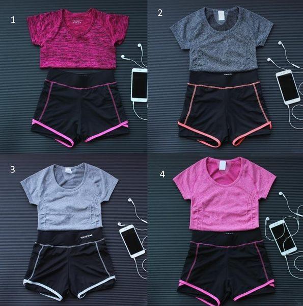 春夏新款運動套裝女士速幹跑步運動健身胸罩短褲組合瑜伽套裝  -12482009