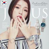正韓JULIUS愛在星空燦爛時CD紋日期顯示情侶金屬鍊帶手錶對錶單件【WJAH086】璀璨之星☆