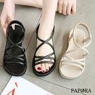 PAPORA防水後鬆緊設計厚底涼鞋KR-...