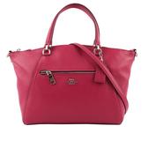 【COACH】皮革口袋手提/斜背二用包(莓紅色) F79997 SVPGB