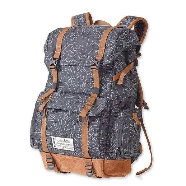 KAVUCamp Sherman 登山背包 黑色等高線Black Topo K9002 露營|休閒|旅遊|戶外|後背包
