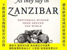 二手書博民逛書店As罕見They Say In ZanzibarY364682 David Crystal Oxford Un
