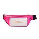 Merrell 腰包 手機運動腰包 粉紅 黑 運動包 包包 彈性材質【ACS】 ML1903T