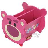 〔小禮堂〕迪士尼 Tsum Tsum 熊抱哥 造型旋轉收納盒《桃.大臉》置物盒.飾品盒 4713052-38446