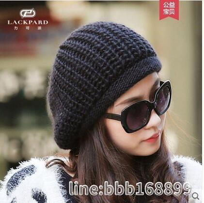 貝雷帽 帽女冬韓版羊毛針織帽堆堆帽保暖毛線帽日系顯臉小貝雷帽 星河光年