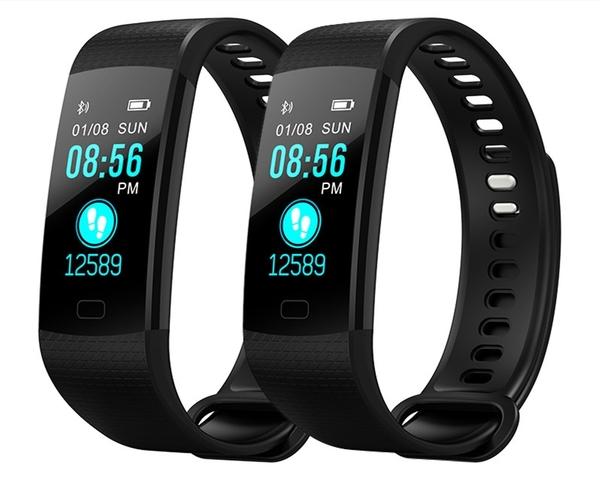 智能運動手環心率血壓監測睡眠心跳防水情侶彩屏多功能老人跑步計步器手表蘋果安卓通用