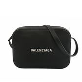 【BALENCIAGA】小牛皮EVERYDAY LOGO LINE斜背相機包(黑色) 552370 D6W2N 1000