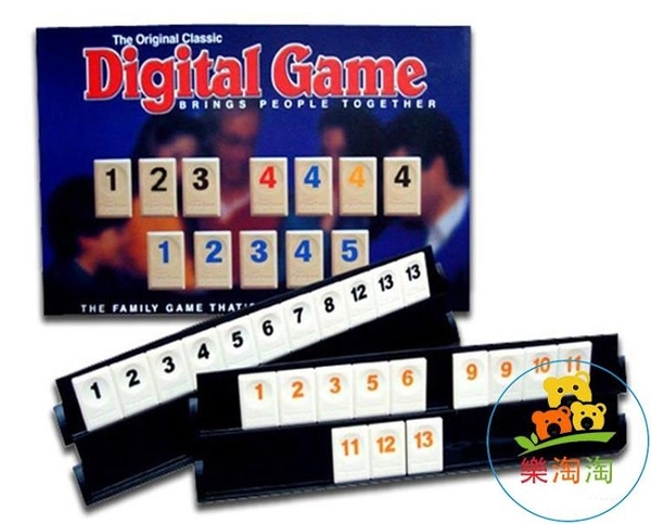 標準四人版拉蜜 桌遊拉密以色列麻將數字麻將牌桌面聚會遊戲牌【樂淘淘】