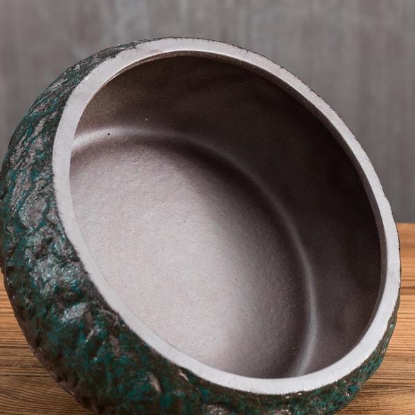 粗陶日式大號茶洗水盂水洗功夫茶具綠茶洗陶瓷魚缸黑陶茶渣缸茶道