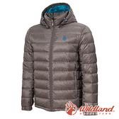 【wildland 荒野】男 收納枕拆帽極暖鵝絨外套『鐵灰』0A72102 戶外 休閒 運動 冬季 保暖 禦寒