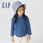 Gap女幼童 碳素軟磨系列 純棉長袖T恤 754599-藍色