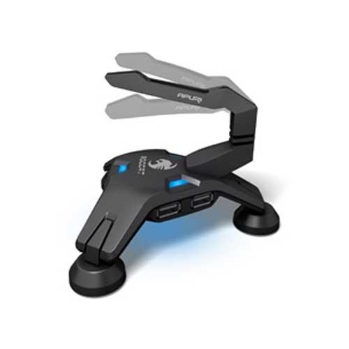 ROCCAT 德國冰豹 ROCCAT APURI RAW 四埠USB集線器HUB LED燈效 鼠線夾