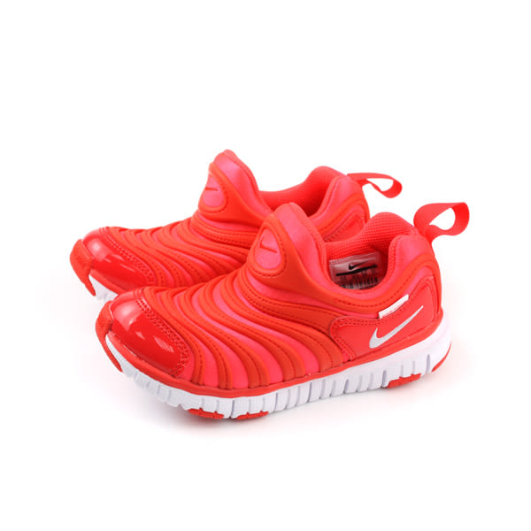 NIKE DYNAMO FREE(PS) 運動鞋 毛毛蟲鞋 童鞋 紅色 中童 343738-624 no022
