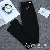 打底褲外穿女褲子薄款緊身春夏季2018新款韓版高腰九分黑色小腳褲