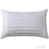 蕎麥枕頭單人學生宿舍全棉蕎麥皮枕芯雙人護頸枕裝家用QM『艾麗花園』