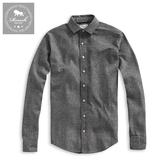 【Roush】 仿毛料重磅長袖襯衫 -【915500】