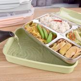 304不銹鋼便當盒兒童學生保溫飯盒大容量方形分格飯盒外送快餐盤 美芭