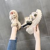 涼鞋女2020年新款夏季網紅時尚百搭休閒增高松糕女鞋厚底運動女士