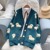 日系重工毛衣外套女寬鬆外穿秋裝2020年新款慵懶風針織開衫春秋潮 黛尼時尚精品