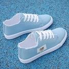 2021新款小白帆布女鞋球鞋板鞋ULZZANG韓版春季百搭秋季休閑布鞋