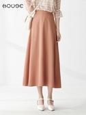 雪紡半身裙 百褶裙半身裙中長款適合胯大腿粗的裙子女夏傘裙雪紡長 韓流時裳