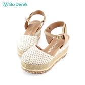 Bo Derek 綁帶厚底包頭涼鞋-駝色