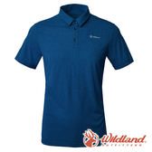 【wildland 荒野】男 POLARTEC POWER DRY上衣『土耳其藍』P1606 POLO衫 排汗 休閒 登山