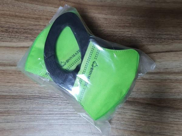 BNN鼻恩恩醫用超立體3D口罩@兒童-黑耳螢光綠色@一盒50片 台灣製造 SGS合格 寬版彈性耳帶