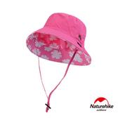 Naturehike 經典LOGO薄款透氣防曬漁夫帽 遮陽帽 桃紅