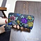 2018新款女士錢包長款拉錬錢夾多功能皮夾復古大容量女手拿包·享家