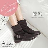 靴.中筒鬆緊襪套靴-FM時尚美鞋-Kimy聯名款.Autumnal