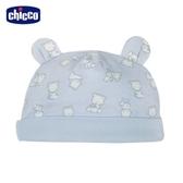 chicco-寶貝熊系列-印花熊耳帽-藍