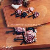 髮飾 花朵蝴蝶結髮夾-Ruby s露比午茶