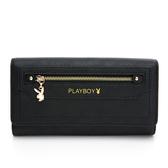 PLAYBOY- 翻蓋長夾 Original系列 -黑色