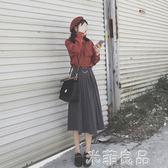 女裝潮時尚甜美chic風兩件套港味復古套裝裙 『米菲良品』
